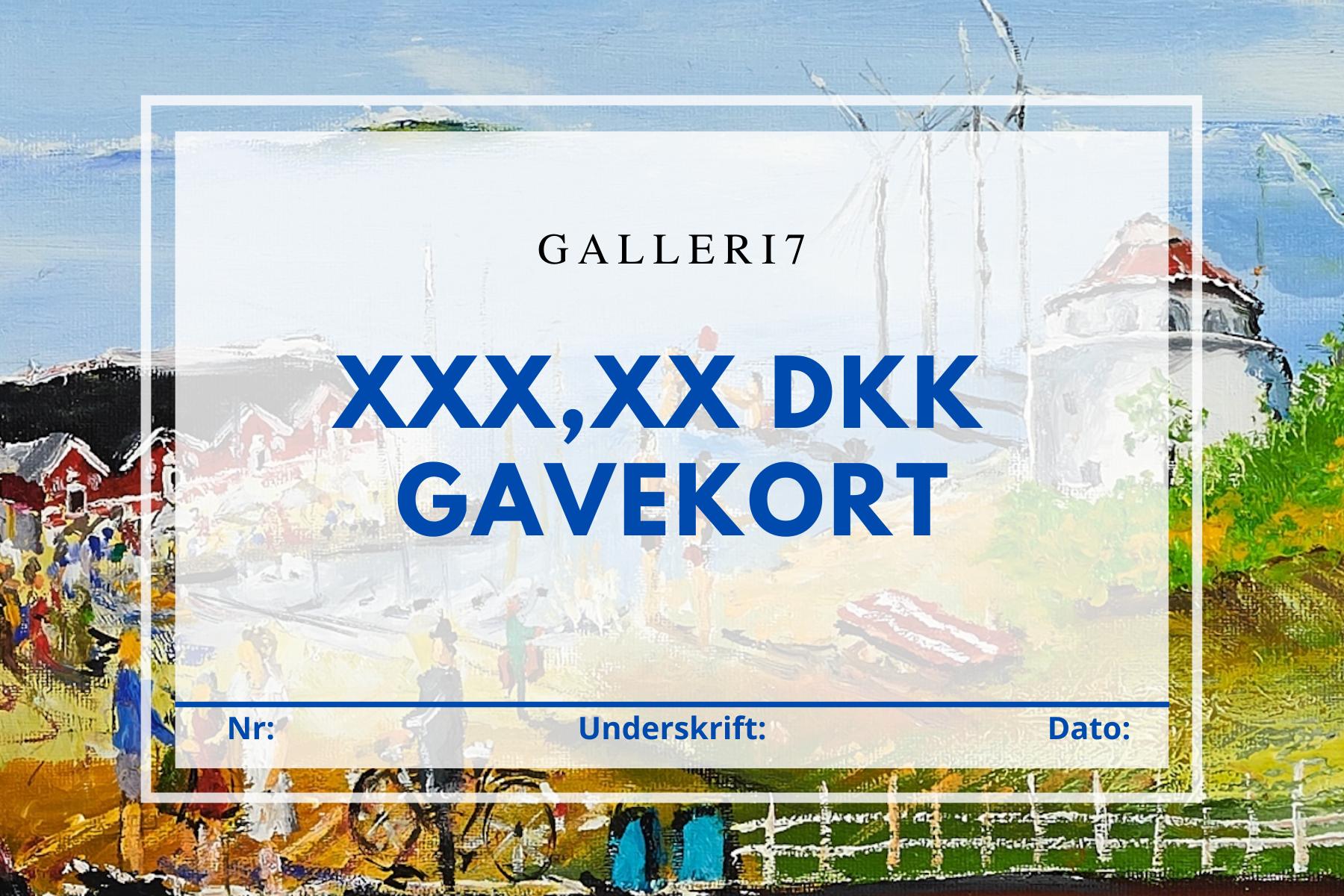 Gavekort Galleri7